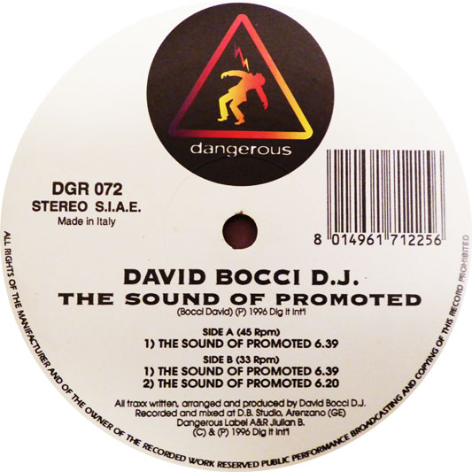 David Bocci - The Sound Of Promoted (Vinile)